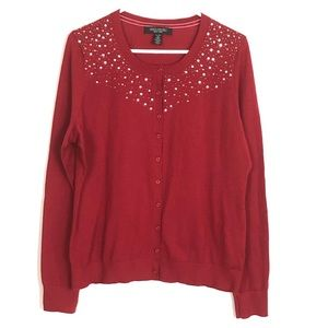 Sweaters - 3-FOR-$20 Red Cardigan Sequence Sweater XL
